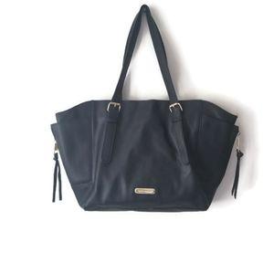 Steve Madden tote soft black leather bag